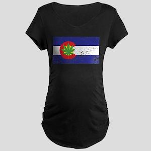 Colorado State Flag, Marijuana, Pot Leaf Maternity