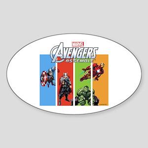 Avengers Sticker (Oval)