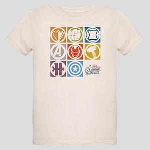 Avengers Squares Organic Kids T-Shirt