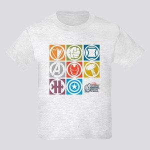 Avengers Squares Kids Light T-Shirt