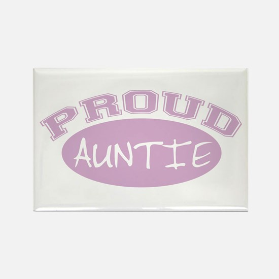Proud Auntie (Pink) Rectangle Magnet
