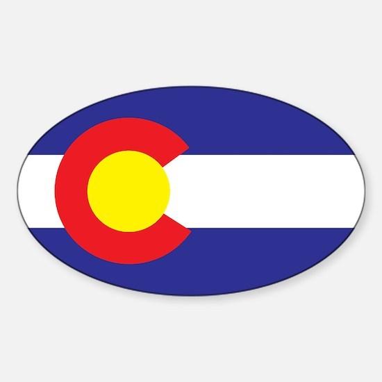 Colorado State Flag Sticker (Oval)
