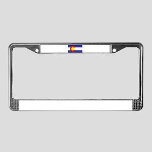 Colorado State Flag License Plate Frame