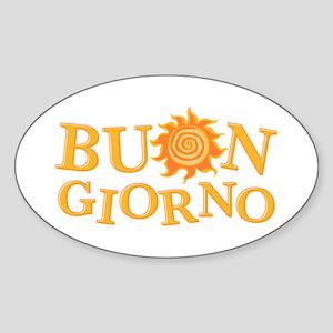 Buon Giorno Oval Sticker