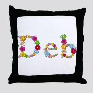 Deb Bright Flowers Throw Pillow