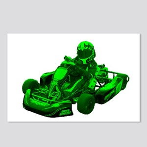 Go Kart in Green Postcards (Package of 8)