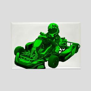 Go Kart in Green Magnets
