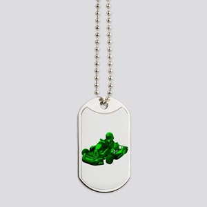 Go Kart in Green Dog Tags