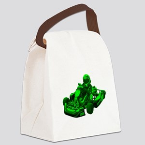 Go Kart in Green Canvas Lunch Bag
