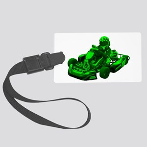 Go Kart in Green Luggage Tag