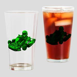 Go Kart in Green Drinking Glass