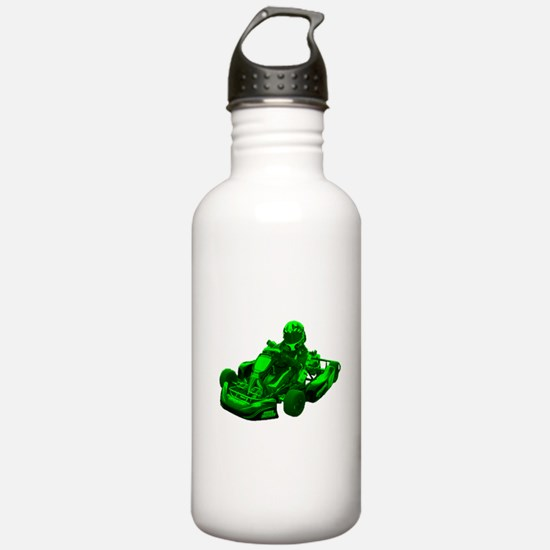 Go Kart in Green Water Bottle