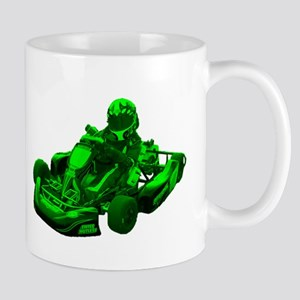 Go Kart in Green Mugs