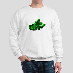 Go Kart in Green Sweatshirt