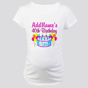 40TH PARTY Maternity T-Shirt