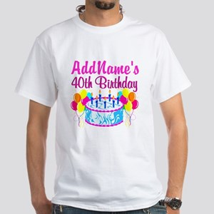 40TH PARTY White T-Shirt