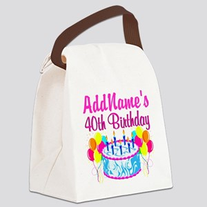 40TH PARTY Canvas Lunch Bag