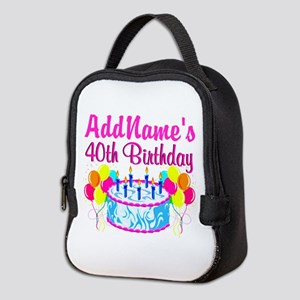 40TH PARTY Neoprene Lunch Bag