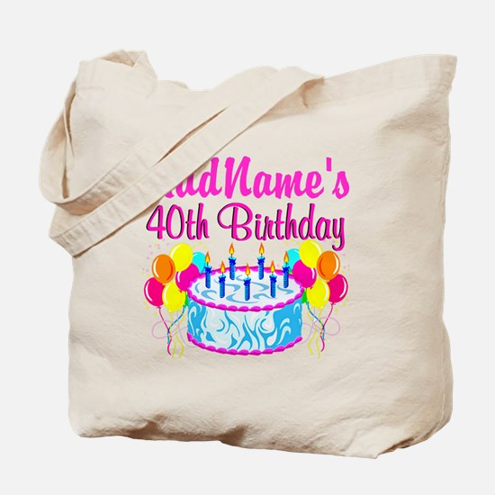 40TH PARTY Tote Bag