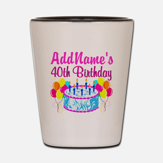 40TH PARTY Shot Glass
