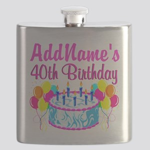 40TH PARTY Flask
