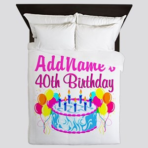 40TH PARTY Queen Duvet