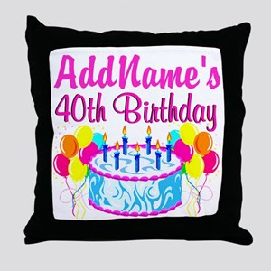40TH PARTY Throw Pillow