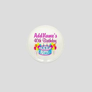 40TH PARTY Mini Button