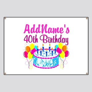 40TH PARTY Banner