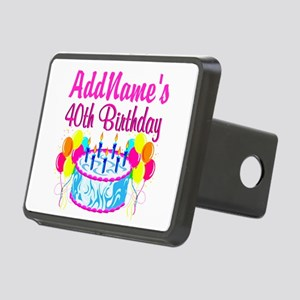 40TH PARTY Rectangular Hitch Cover
