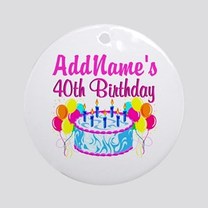 40TH PARTY Ornament (Round)