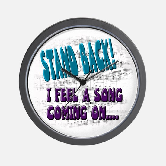 """""""I feel a song coning on"""" Wall Clock"""
