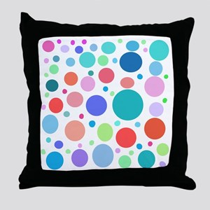 Multi Colored Polka Dots Throw Pillow