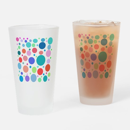 Multi Colored Polka Dots Drinking Glass