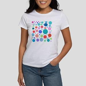 Multi Colored Polka Dots Women's T-Shirt