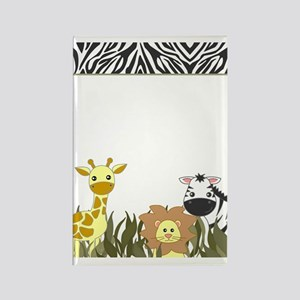 Cute Jungle Safari Animals Rectangle Magnet