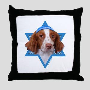 Hanukkah Star of David - Brittany Throw Pillow