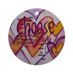 Love Hearts + Poem Words Ornament (Round)