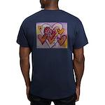 Love Hearts + Poem Wor Men's Fitted T-Shirt (dark)