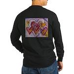 Love Hearts + Poem Words Long Sleeve Dark T-Shirt