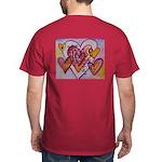 Love Hearts + Poem Words Dark T-Shirt