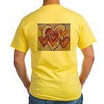 Love Hearts + Poem Words Yellow T-Shirt