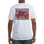 Love Hearts + Poem Words Fitted T-Shirt