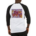 Love Hearts + Poem Words Baseball Jersey