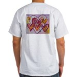 Love Hearts + Poem Words Light T-Shirt