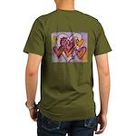 Love Hearts + Poem Wo Organic Men's T-Shirt (dark)