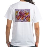 Love Hearts + Poem Words White T-Shirt