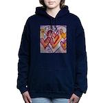 Love Hearts + Poem Words Women's Hooded Sweatshirt
