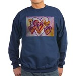 Love Hearts + Poem Words Sweatshirt (dark)