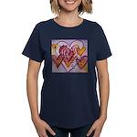 Love Hearts + Poem Words Women's Dark T-Shirt